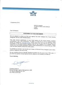 IATA(TIDS) APPROVAL LETTER